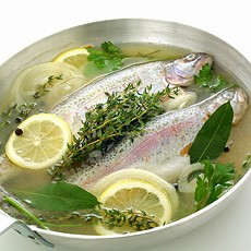 How to poach and steam fish how to cook delia online for Poaching fish in wine