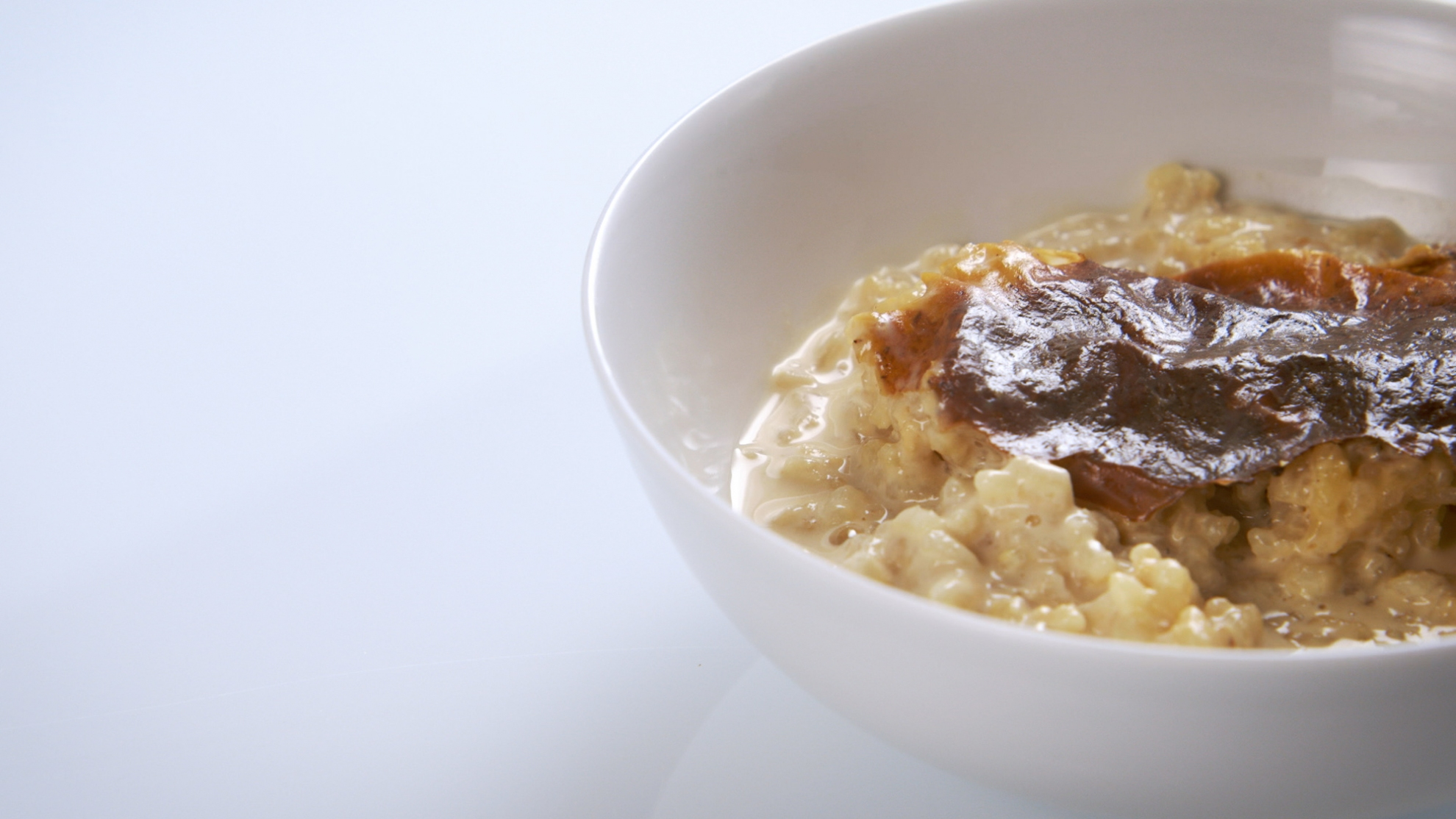 Old Fashioned Baked Rice Pudding With Cooked Rice