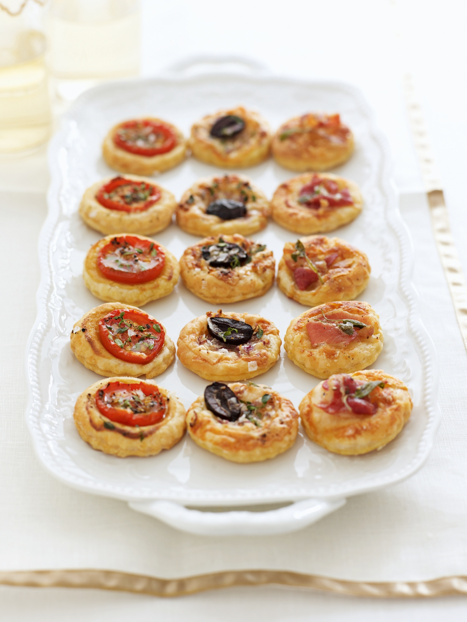 Red fish tartlets and other tasty options 69