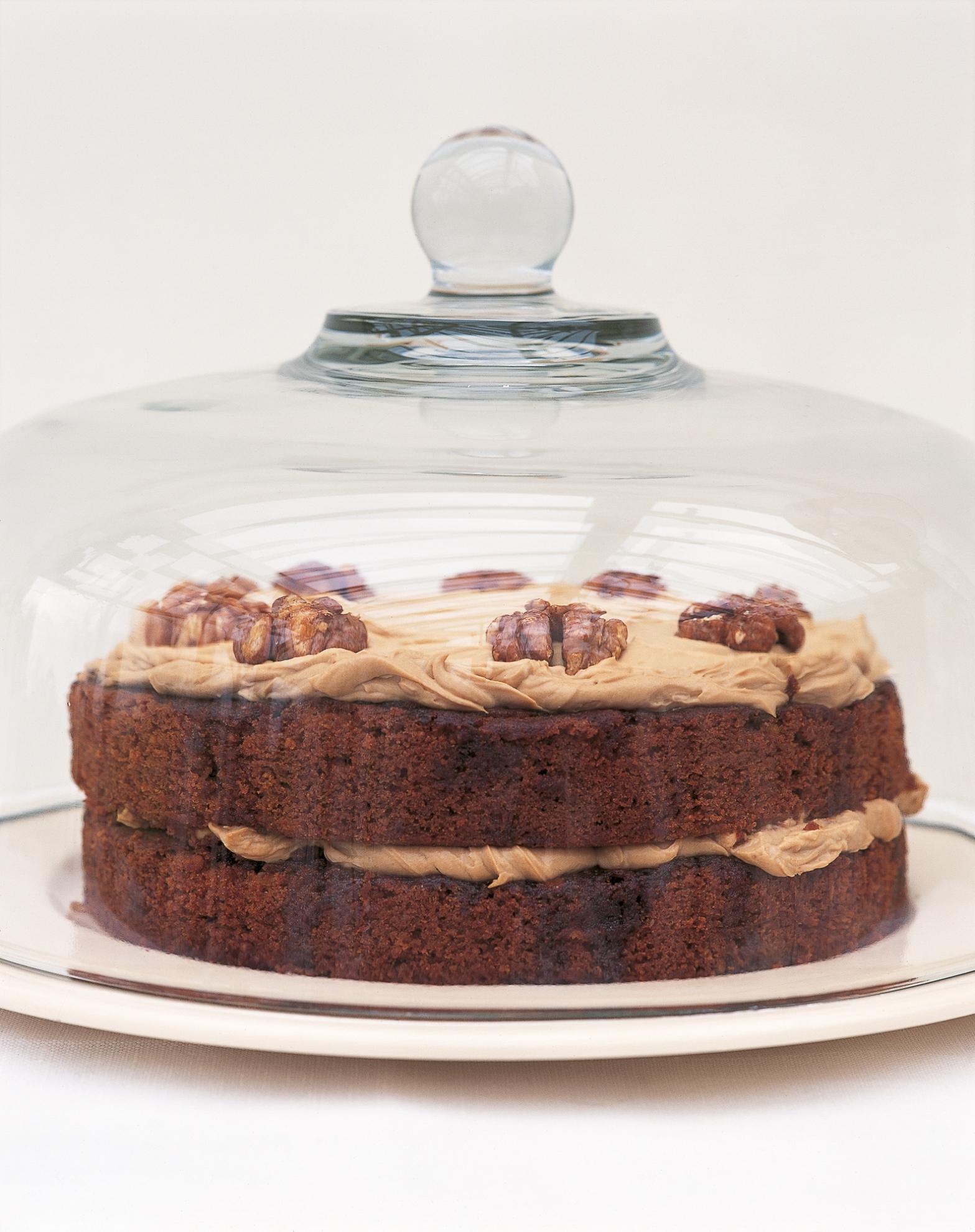 Austrian Coffee And Walnut Cake With Coffee Cream Recipes Delia