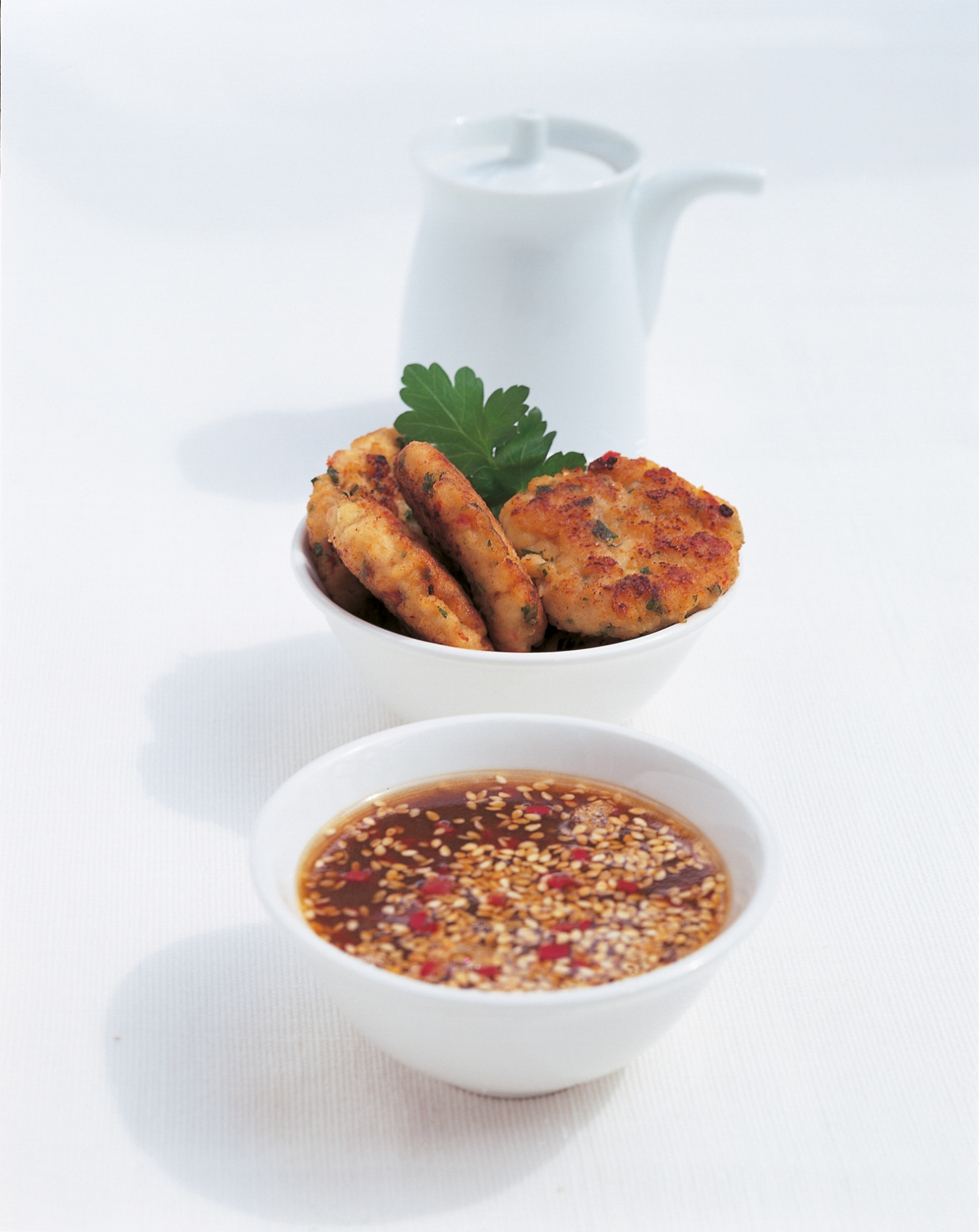 Thai Fish Cakes with Sesame and Lime Dipping Sauce