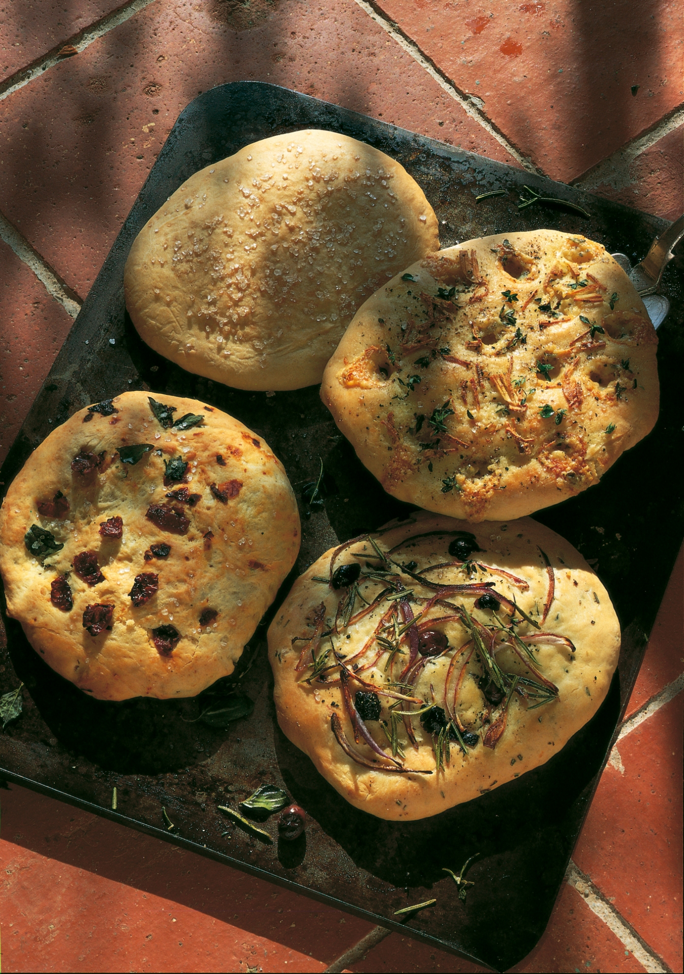 Mini Focaccia Bread With Four Toppings Recipes Delia Online