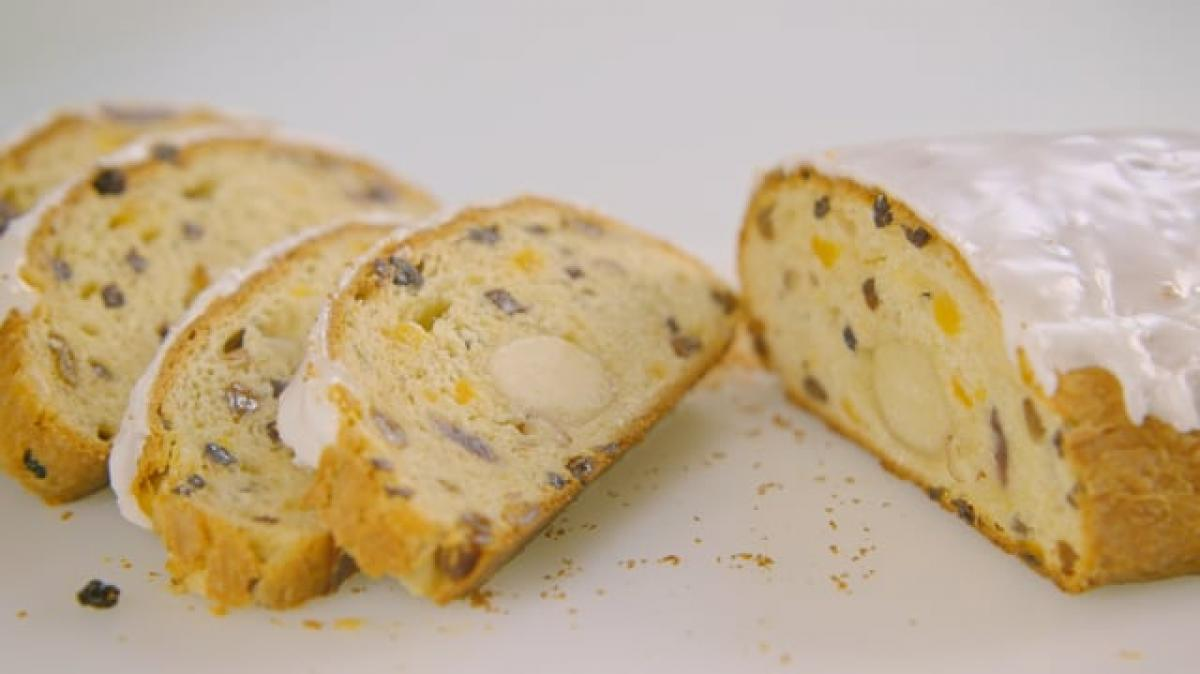 A picture of Delia's Fourth Term: Christmas Stollen cookery school video