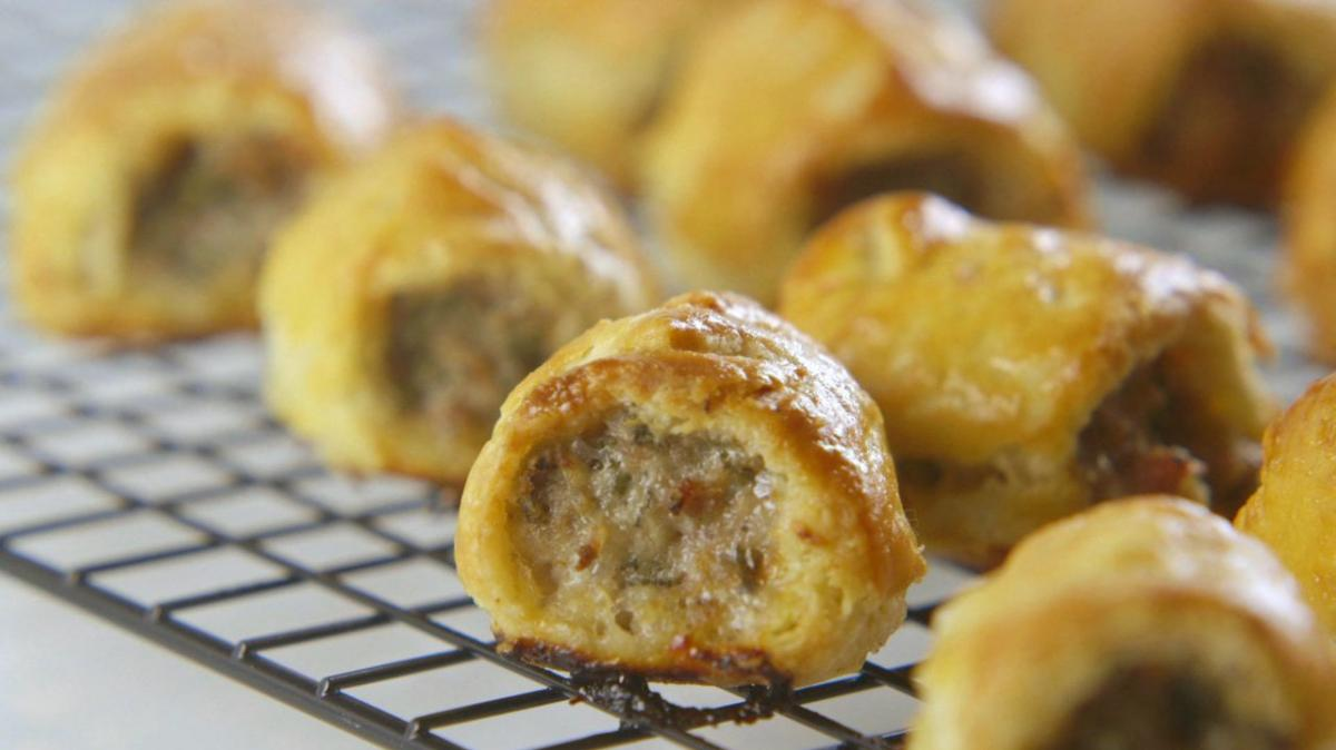 A picture of Delia's Sausage Rolls cookery school video
