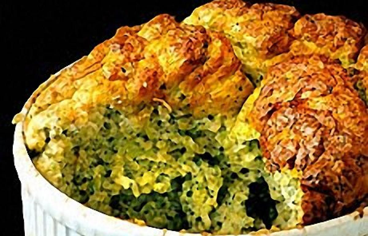 Broccoli Souffle with Three Cheeses