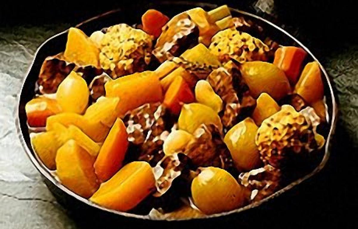 A picture of Delia's Beef and Vegetable Stew with Crusted Onion Dumplings recipe