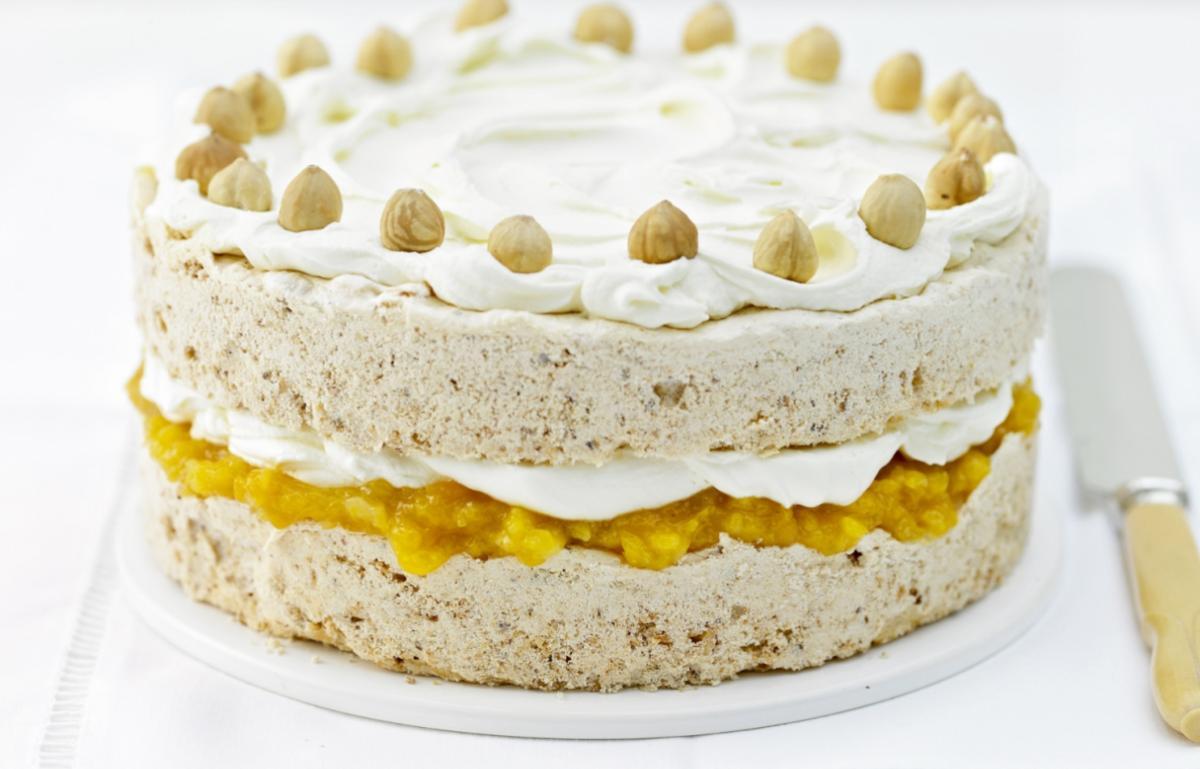 A picture of Delia's Apricot Hazelnut Meringue Cake recipe