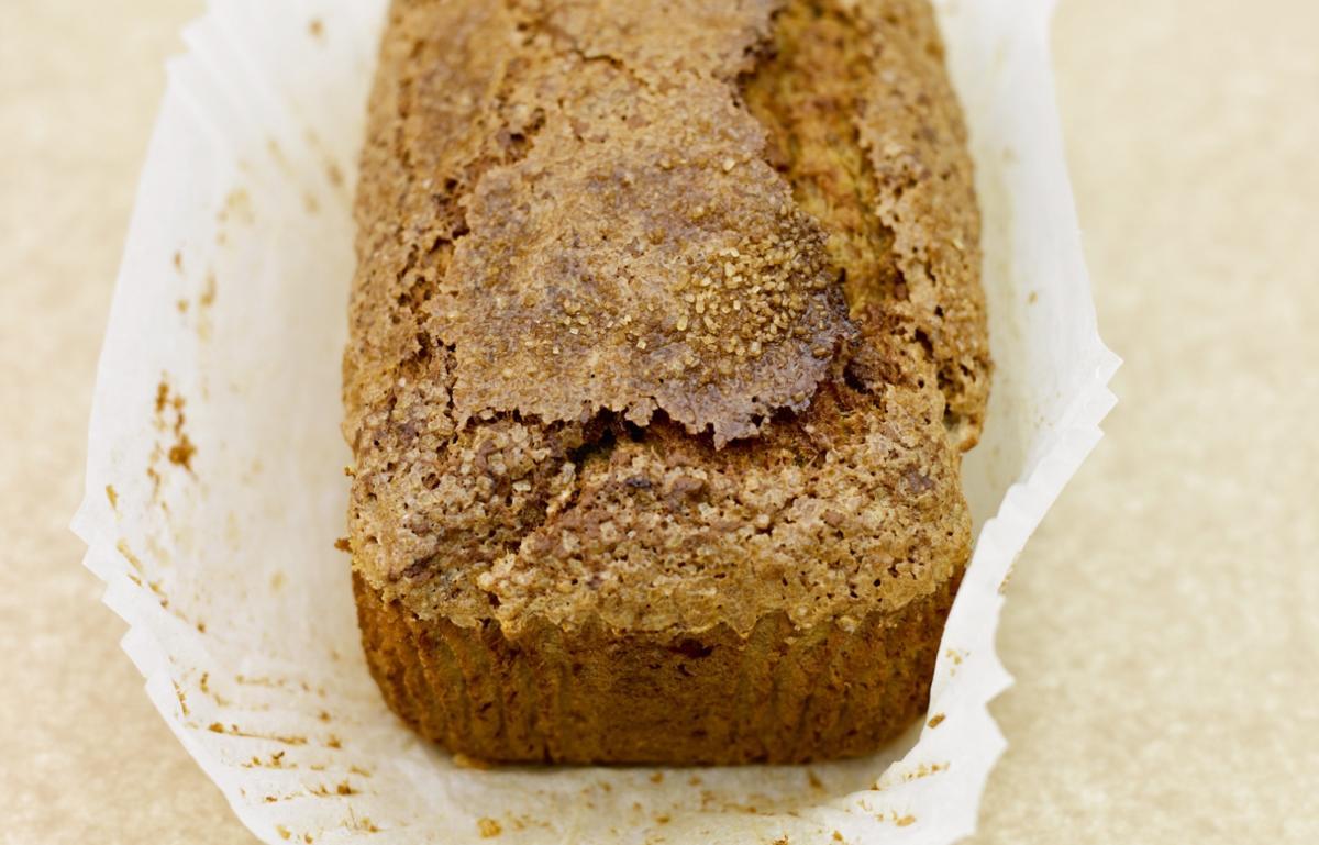 Cakes banana and walnut loaf