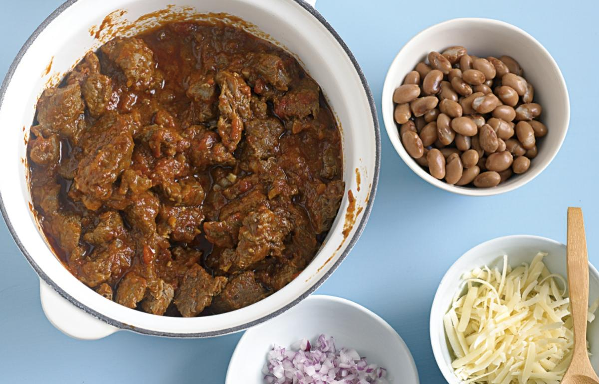 A picture of Delia's Cincinnati 5-ways Chilli recipe