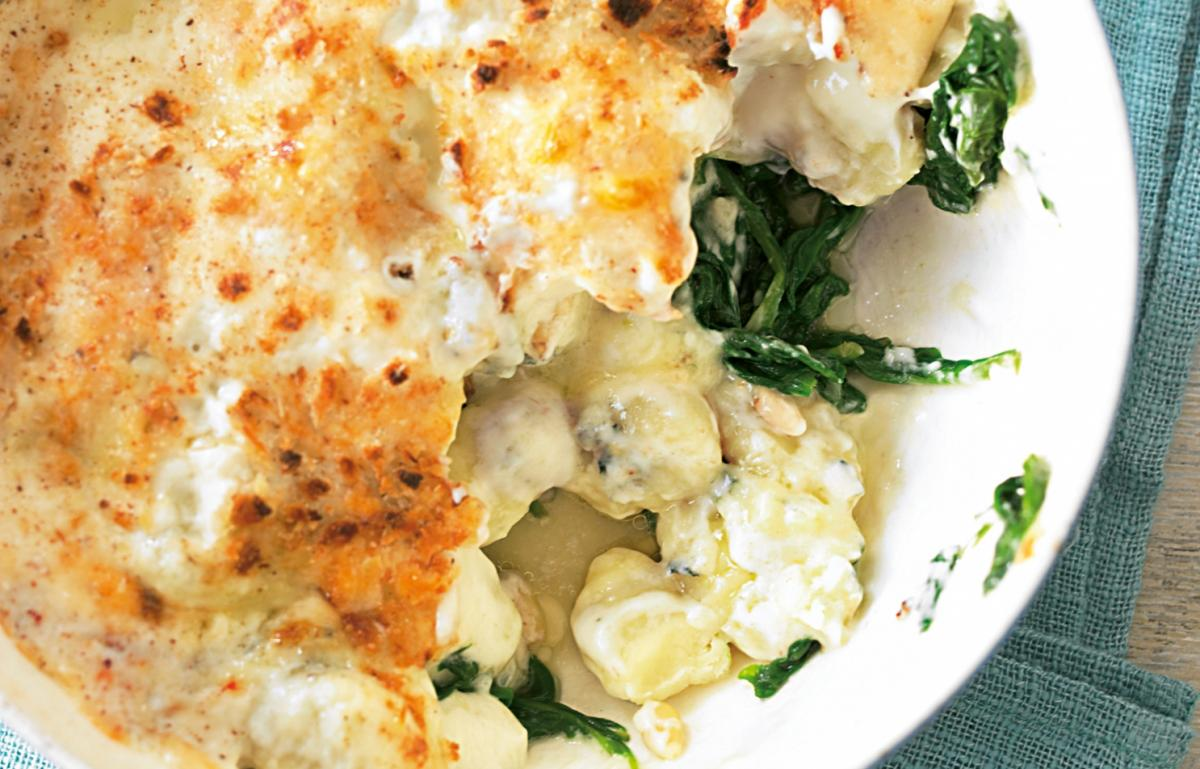 A picture of Delia's Gnocchi with Spinach, Pine Nuts and Dolcelatte recipe