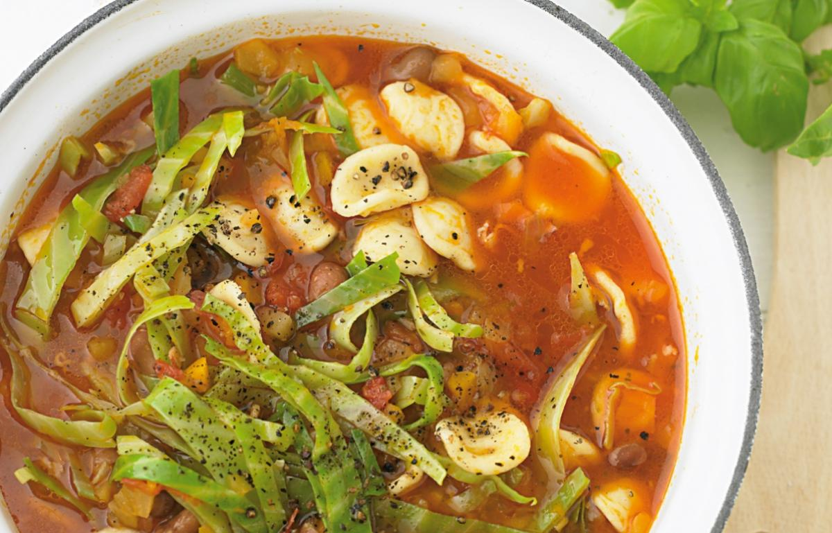 A picture of Delia's Minestrone with Orecchiette and Borlotti Beans recipe