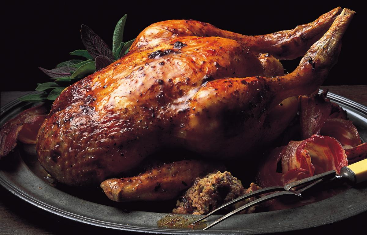 Chicken traditional roast chicken with apple sage and onion stuffing