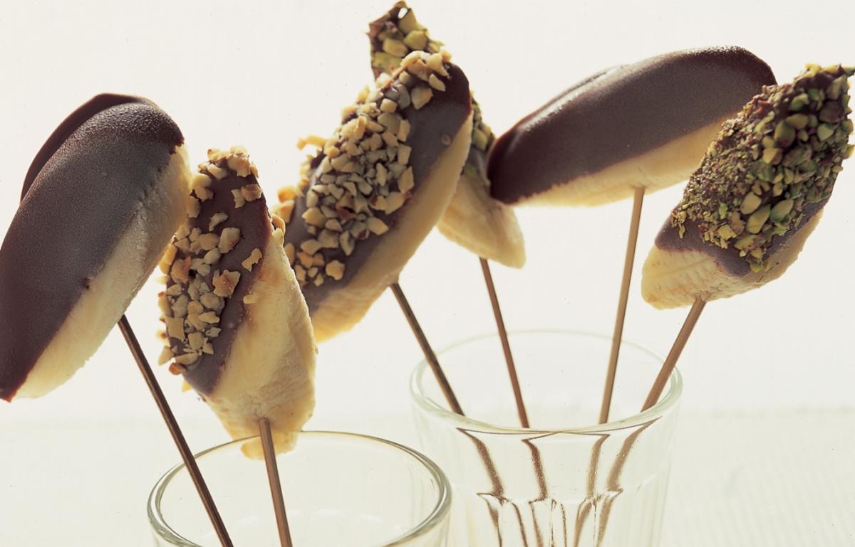 A picture of Delia's Frozen Chocolate Bananas recipe