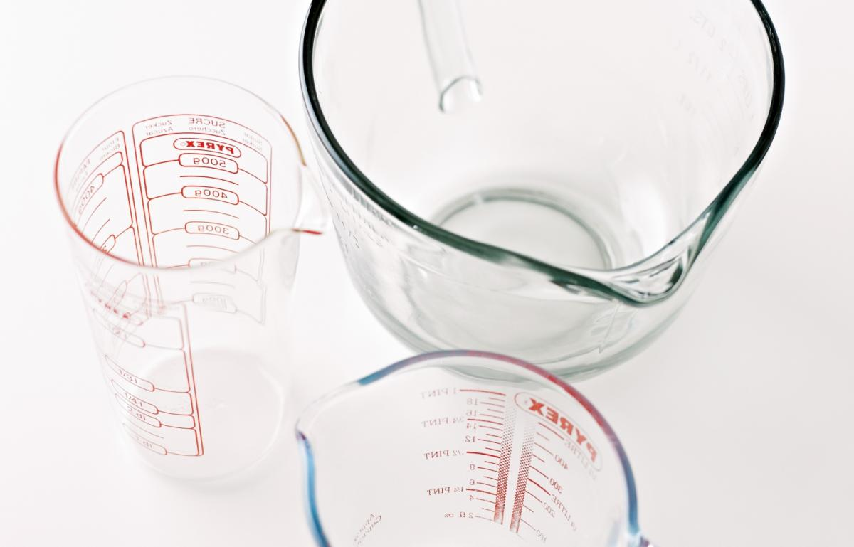 Equipment measuring jugs
