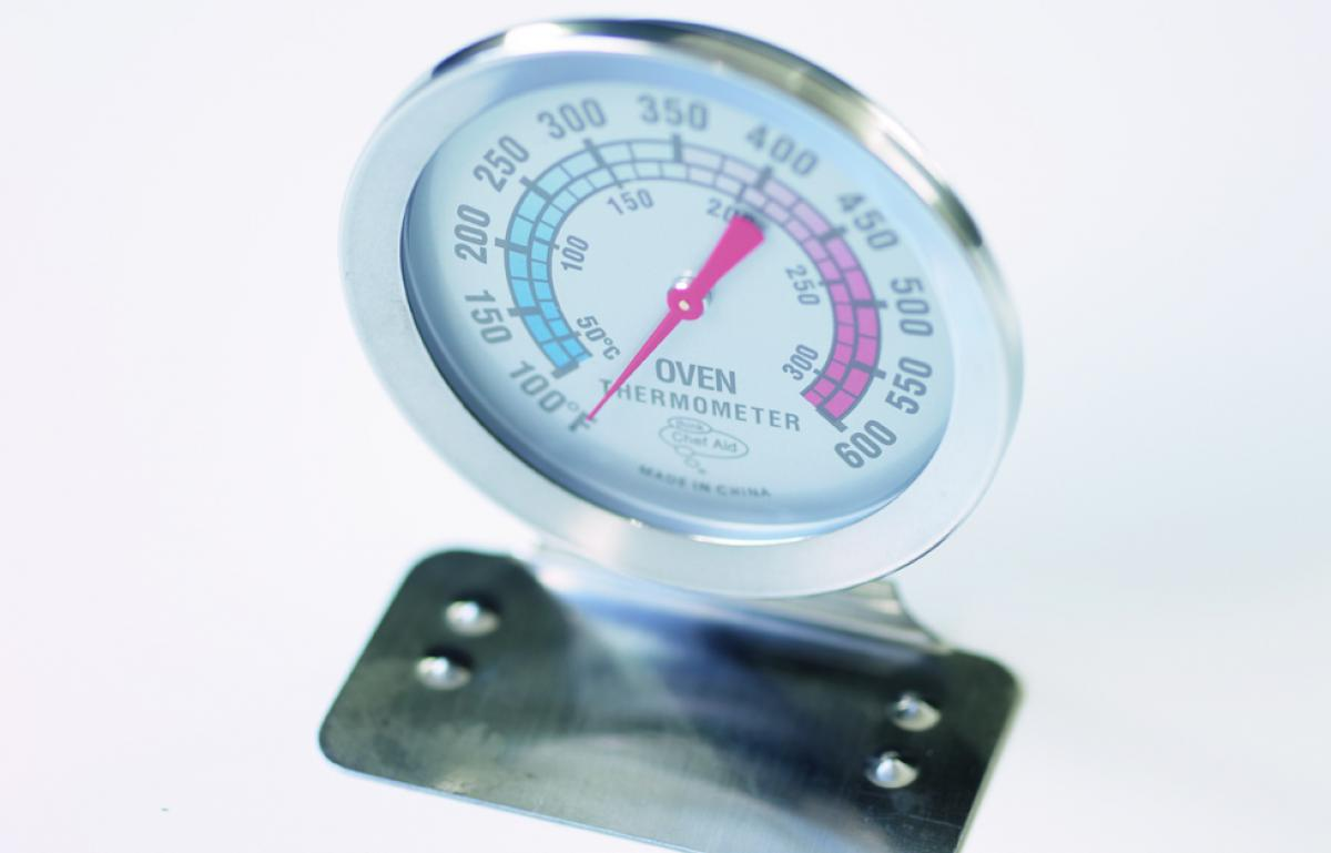 Equipment oven thermometer