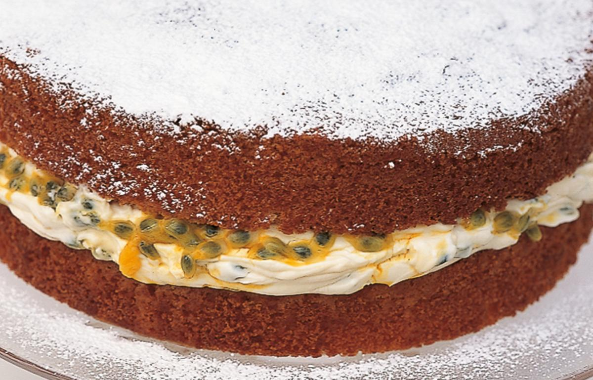 Htc a classic sponge cake with passion fruit filling