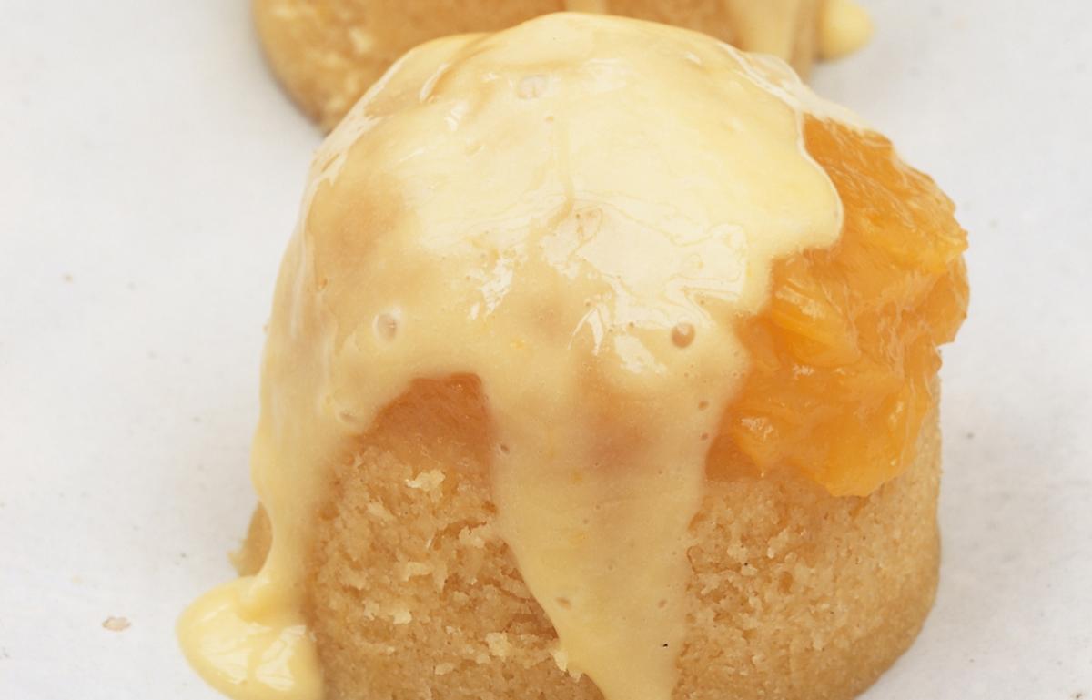 Sponge Cake Recipe Lemon Curd: Canary Lemon Sponge Puddings With Lemon Curd Cream