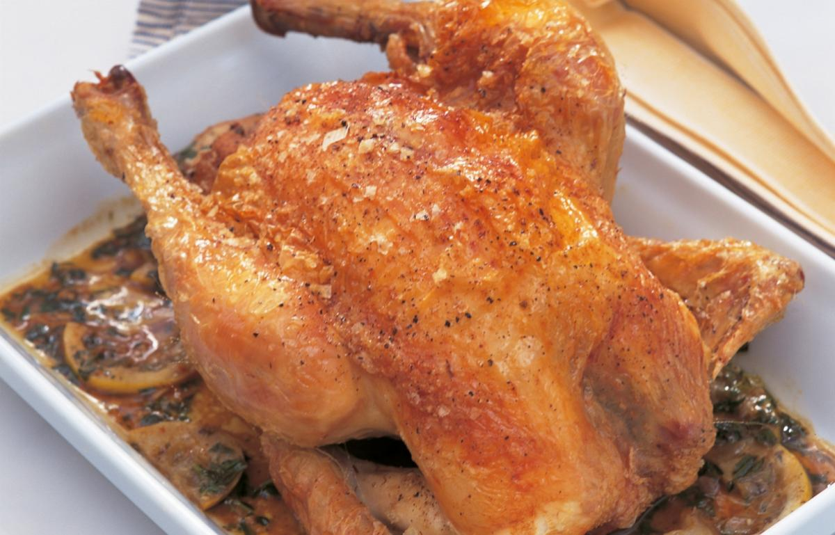 A picture of Delia's Fast-roast Chicken with Lemon and Tarragon recipe