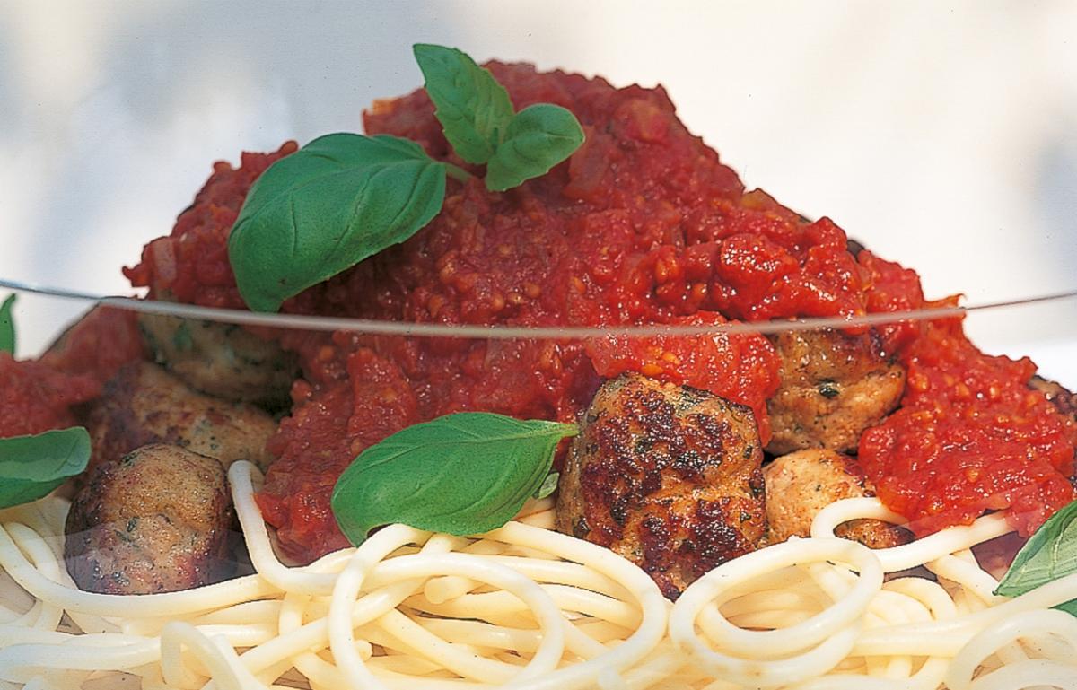 A picture of Delia's Meatballs with Spaghetti and Fresh Tomato Sauce recipe