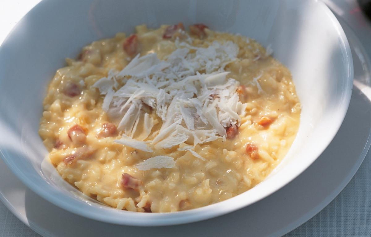 Oven-baked Risotto Carbonara | Recipes | Delia Online