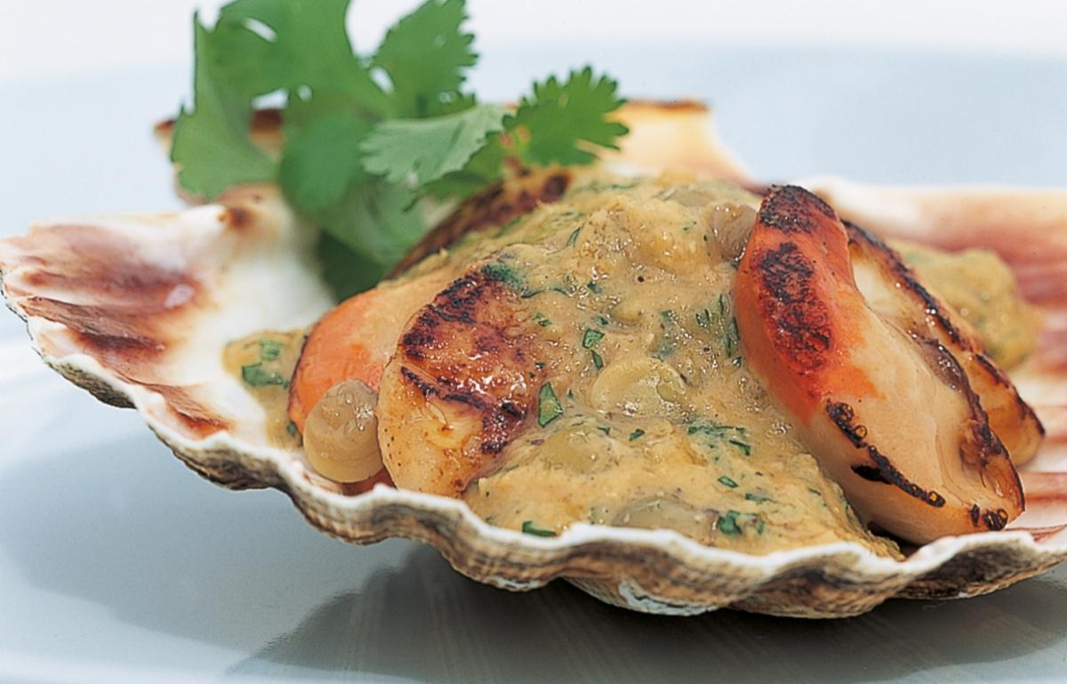 A picture of Delia's Shaun Hill's Sautéed Scallops with Lentil Sauce recipe