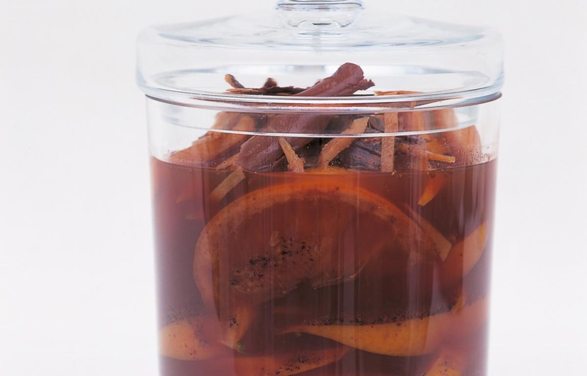 A picture of Delia's Spiced Oranges in Port recipe
