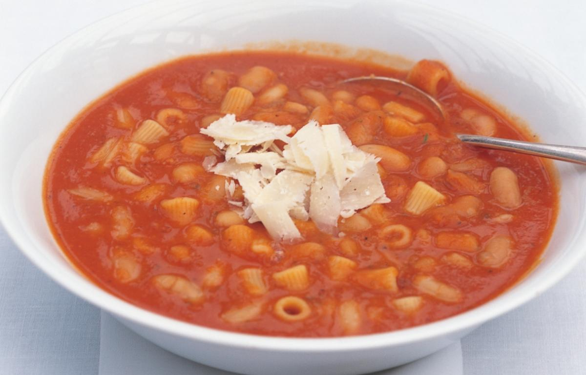 A picture of Delia's Tuscan Bean and Pasta Soup recipe