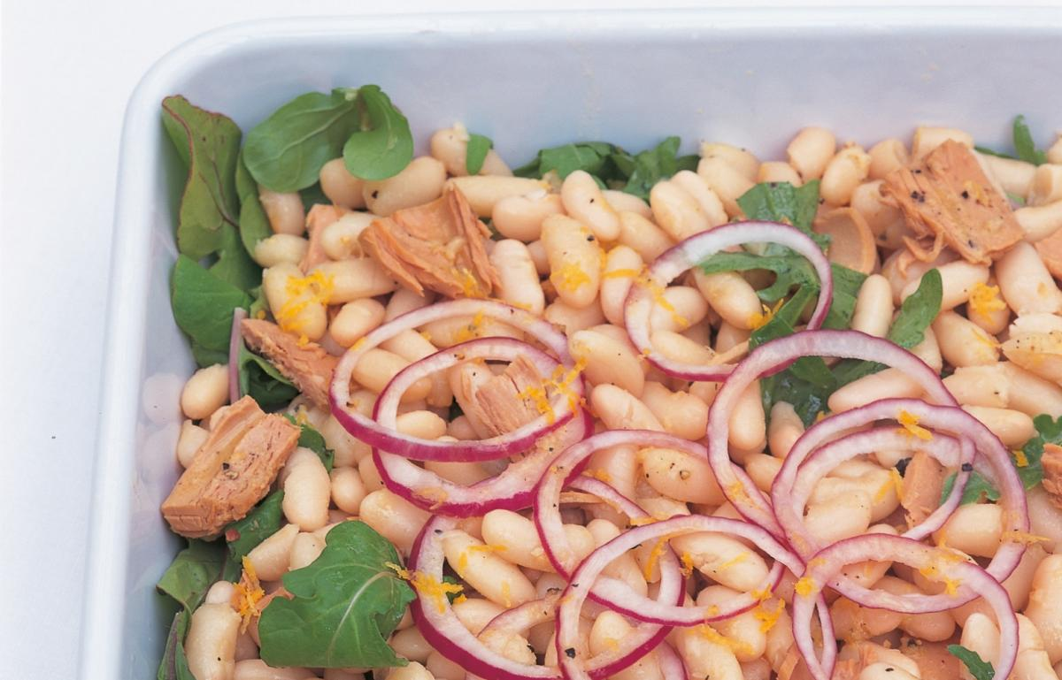 A picture of Delia's White Bean and Tuna Fish Salad with Lemon Pepper Dressing recipe