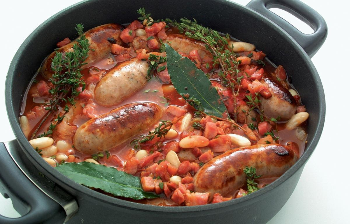 Pork poor mans cassoulet