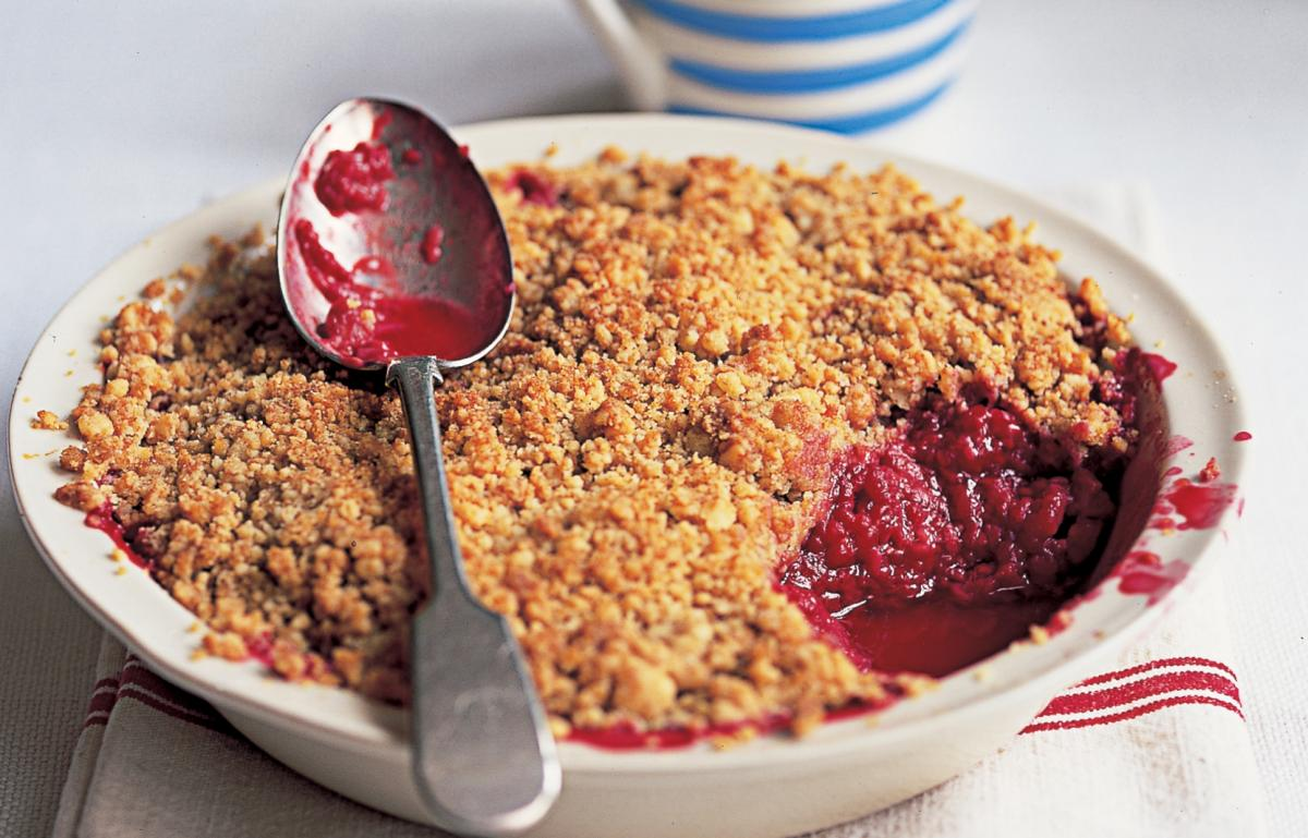 A picture of Delia's Raspberry Crumble recipe