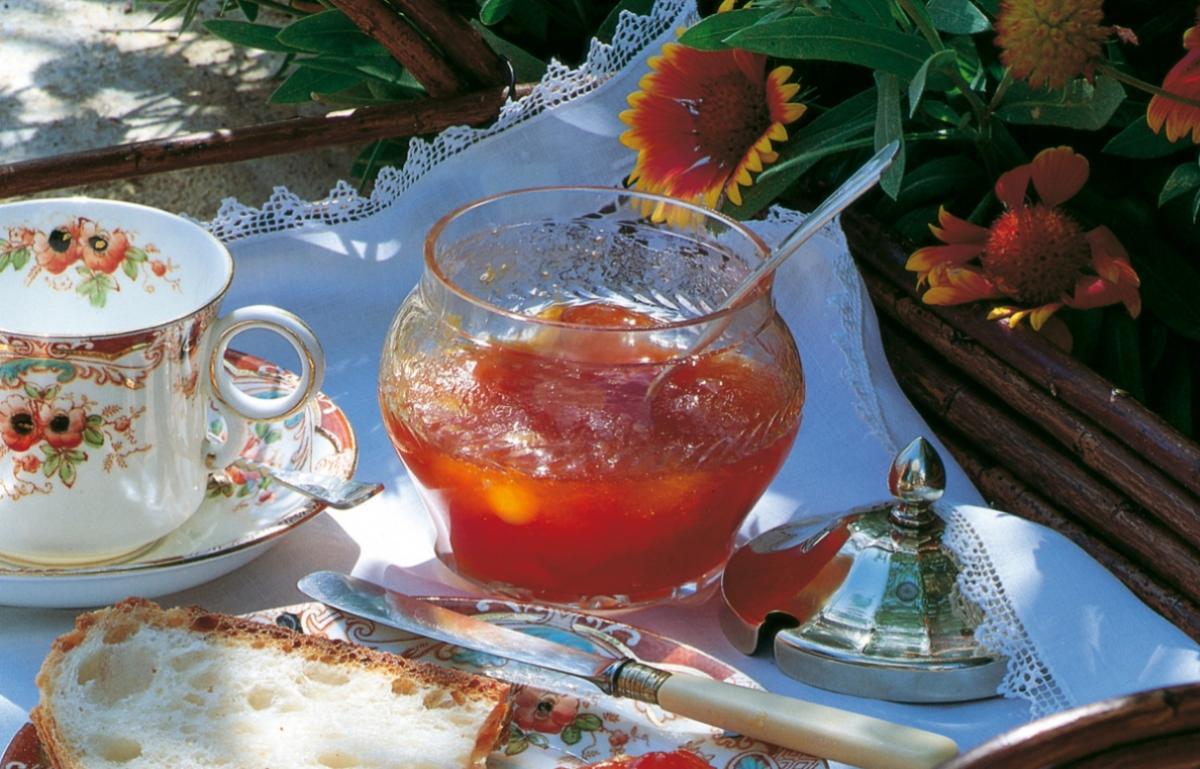 Summer fresh apricot preserve