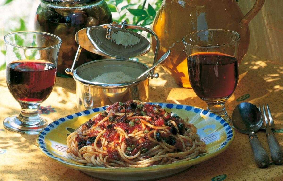 A picture of Delia's Pasta Puttanesca (Tart's Spaghetti) recipe