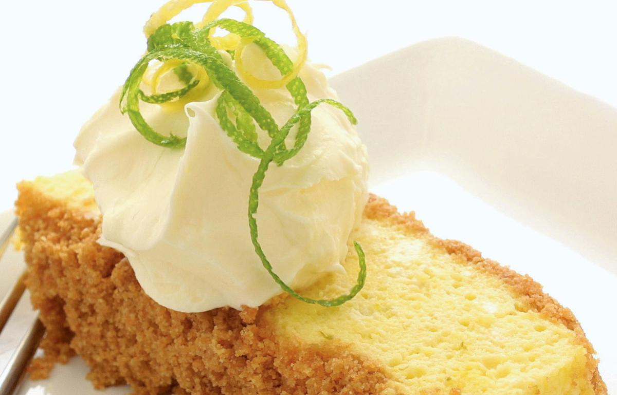 Vegetarian lemon and lime refrigerator cake
