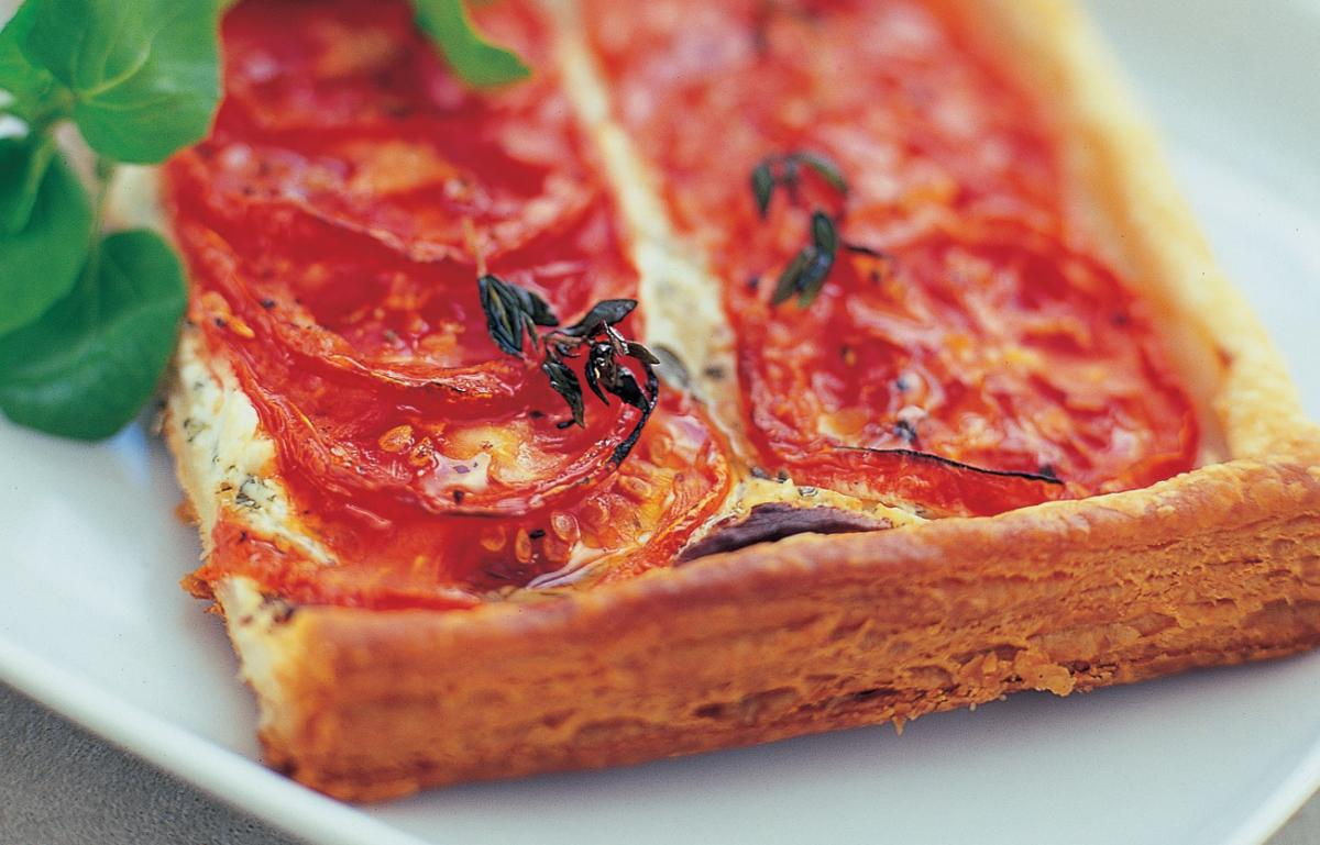 Roasted Tomato And Goats Cheese Tart With Thyme Recipes Delia Online