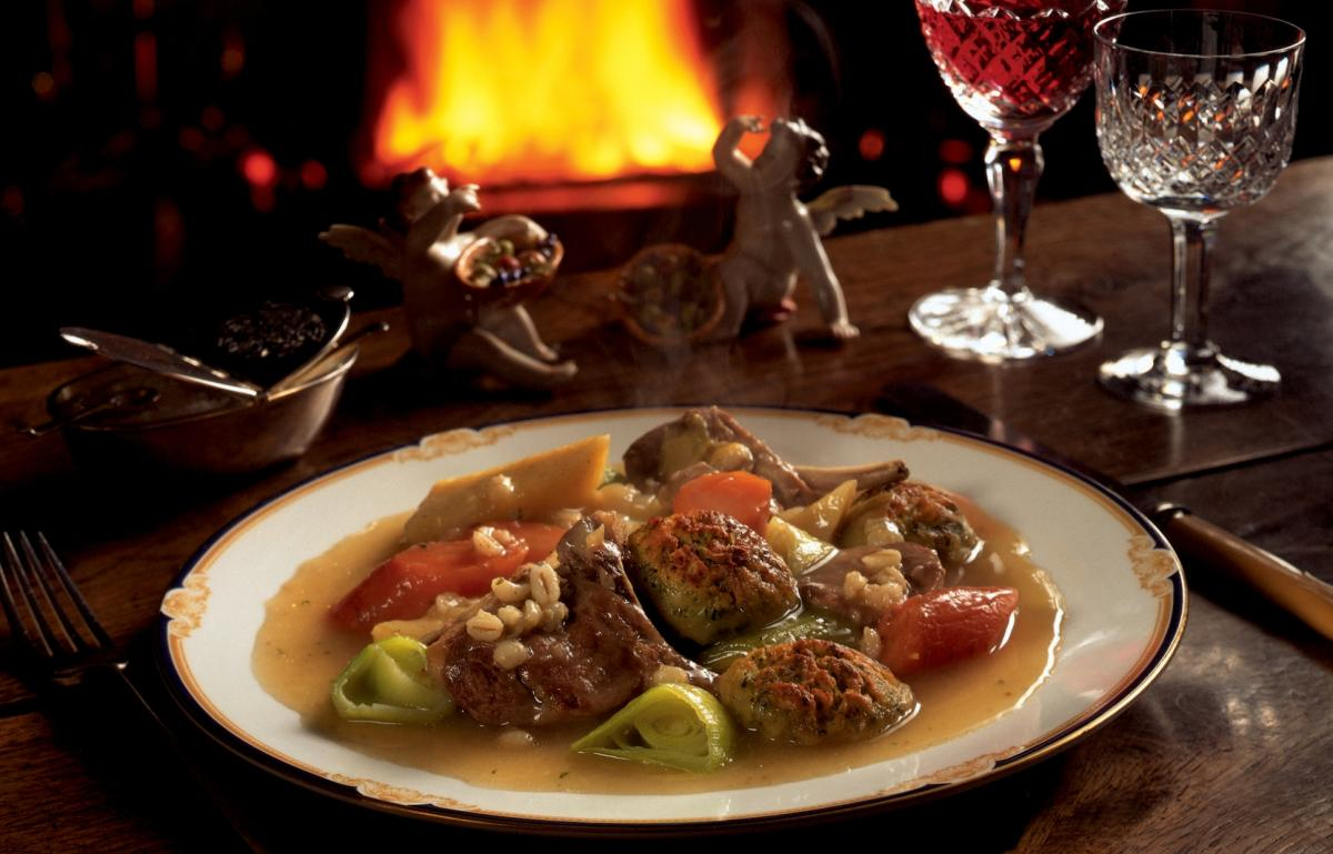 Winter a bit of the irish stew with crusted dumplings