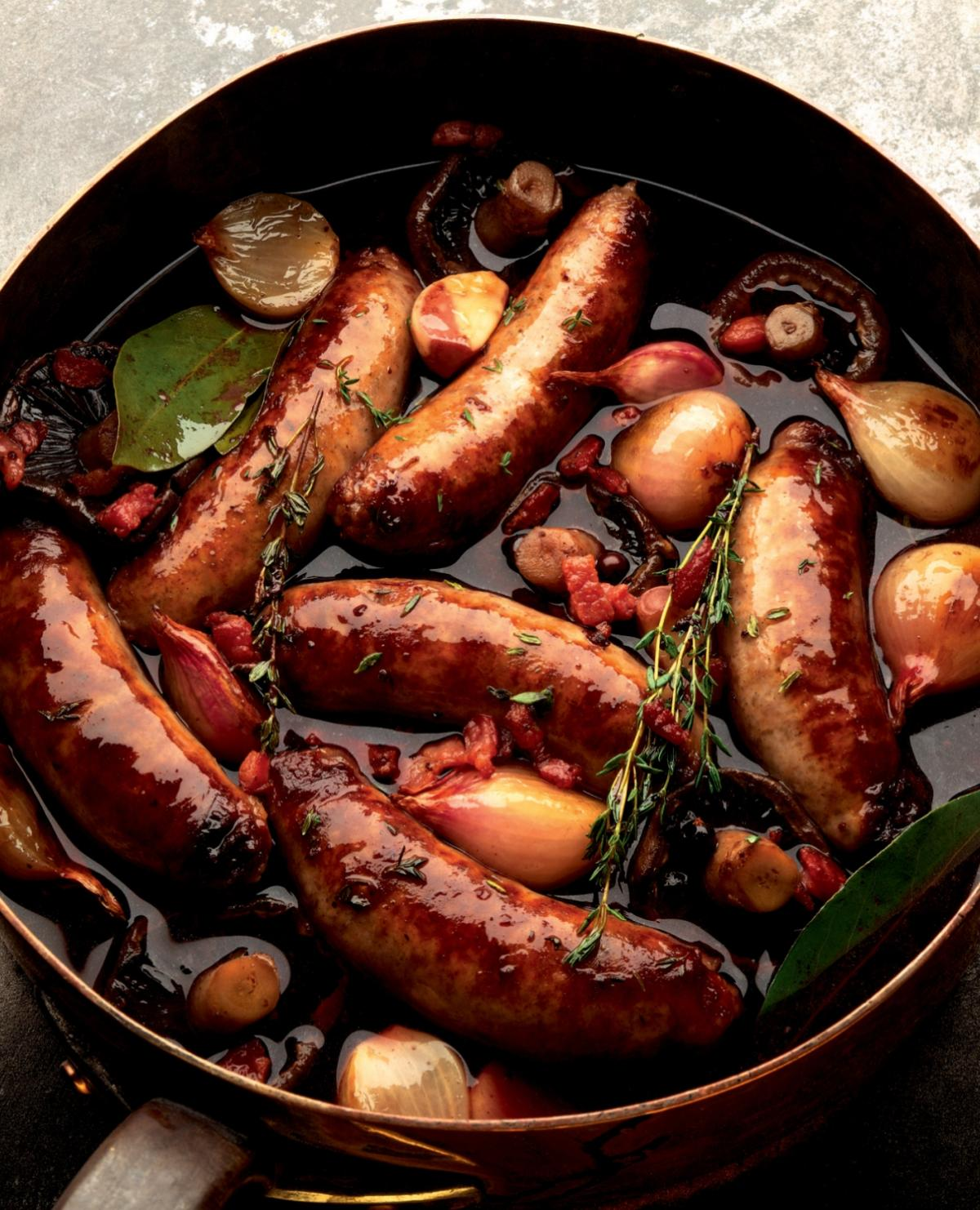 A picture of Delia's Succulent sausages recipes
