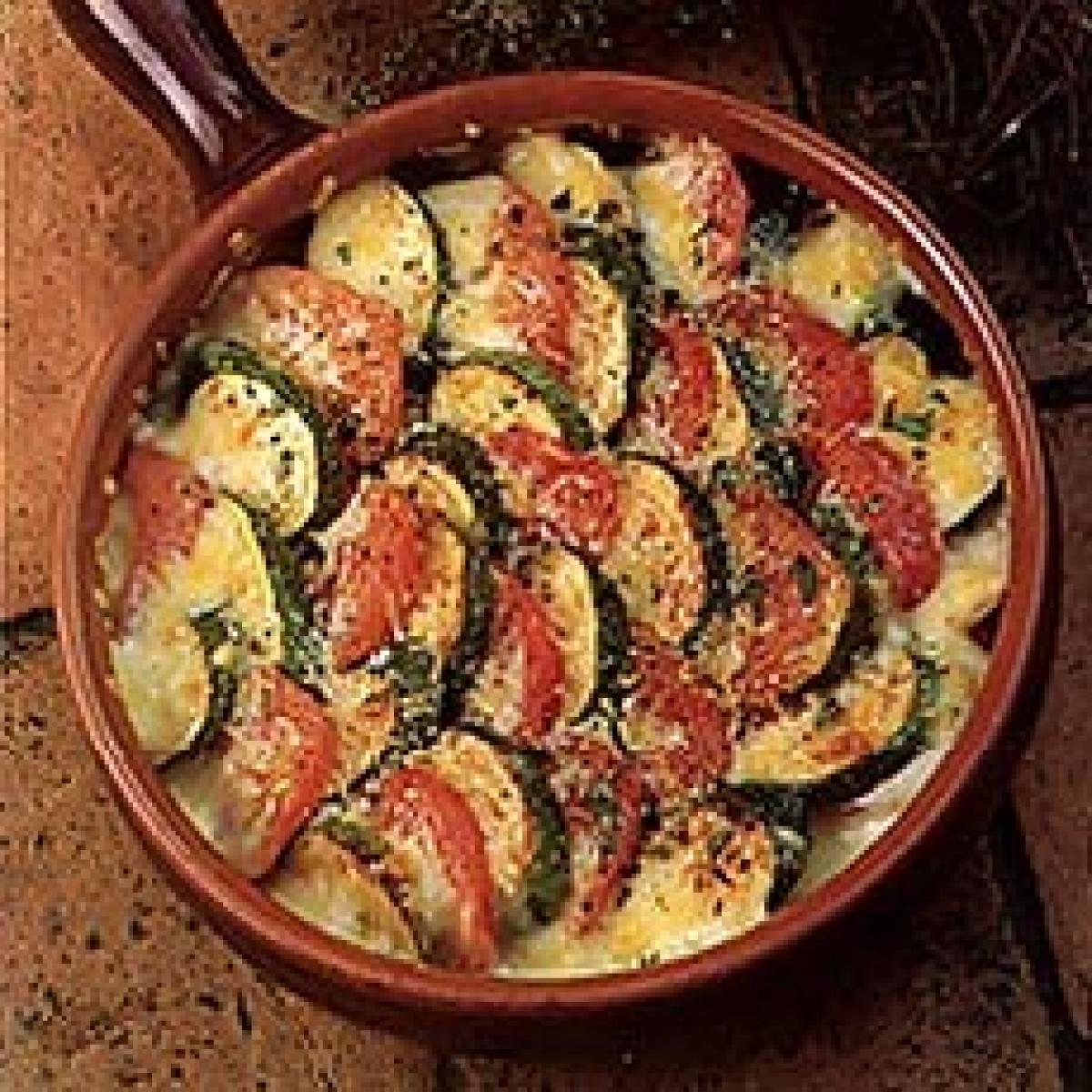 A picture of Delia's Courgettes and Tomatoes au Gratin recipe