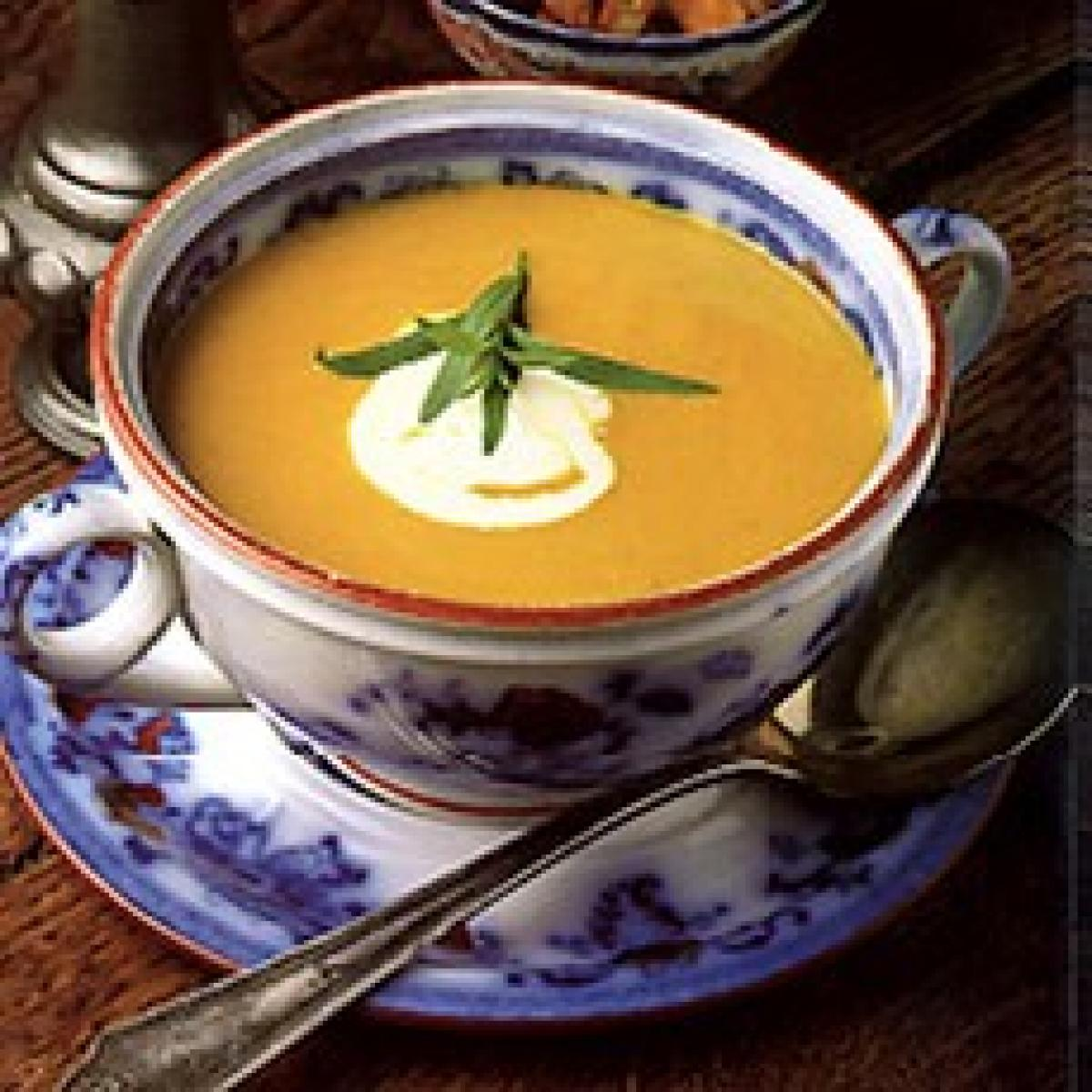 A picture of Delia's Carrot and Tarragon Soup recipe