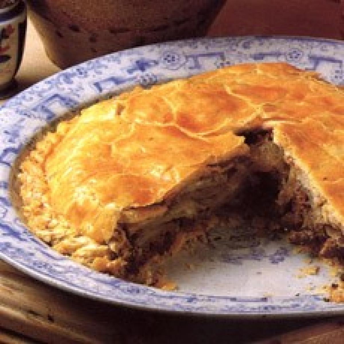 A picture of Delia's Cornish Pasty Pie recipe