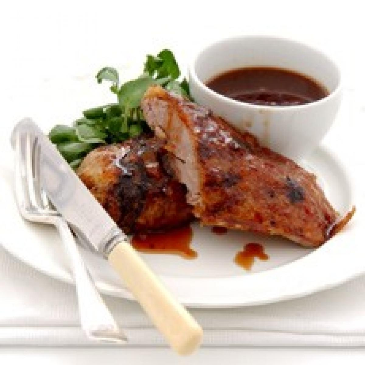A picture of Delia's Roast Seville Orange-glazed Duck with Port Wine Sauce recipe