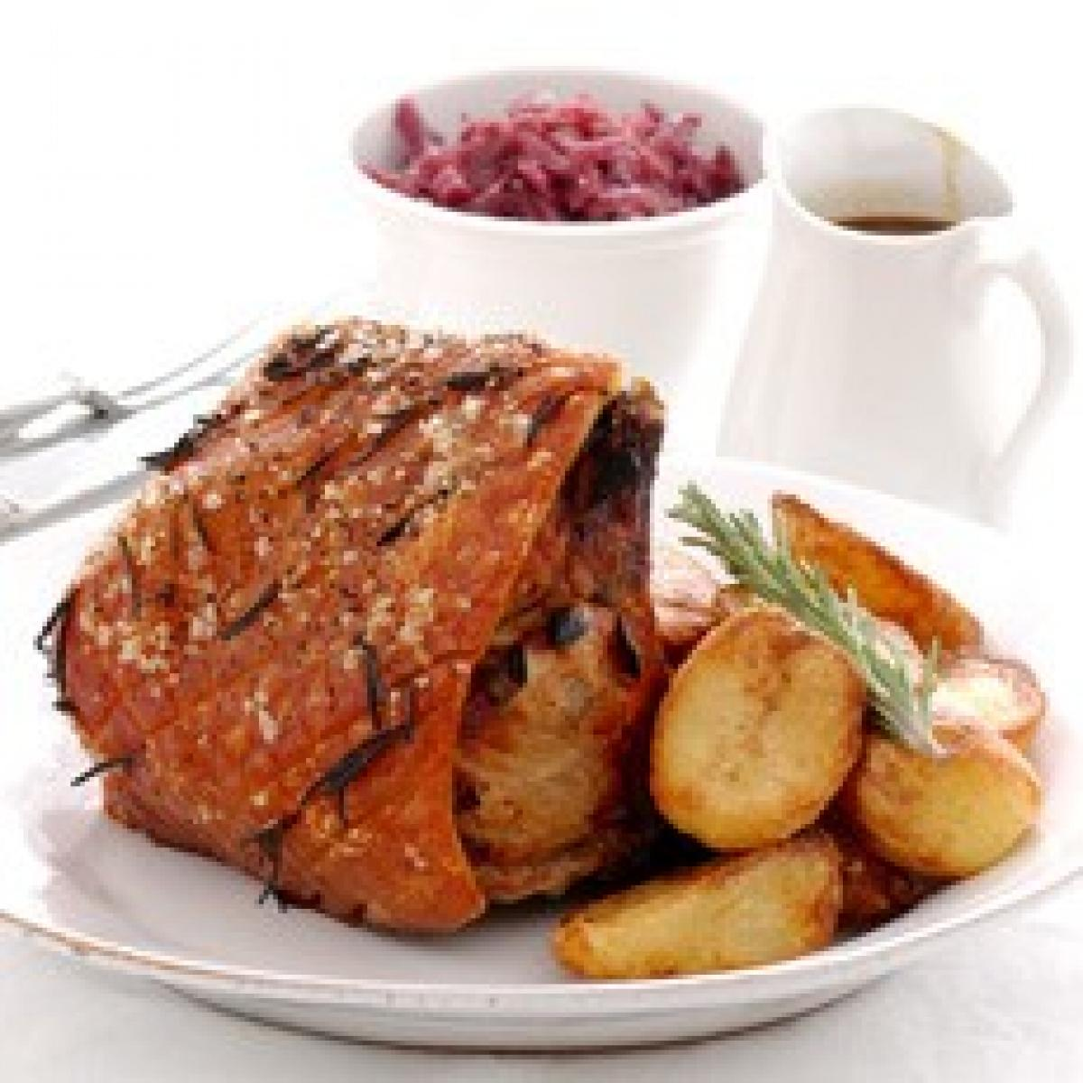A picture of Delia's Roast Loin of Pork with Herbs and Spiced Apricots recipe