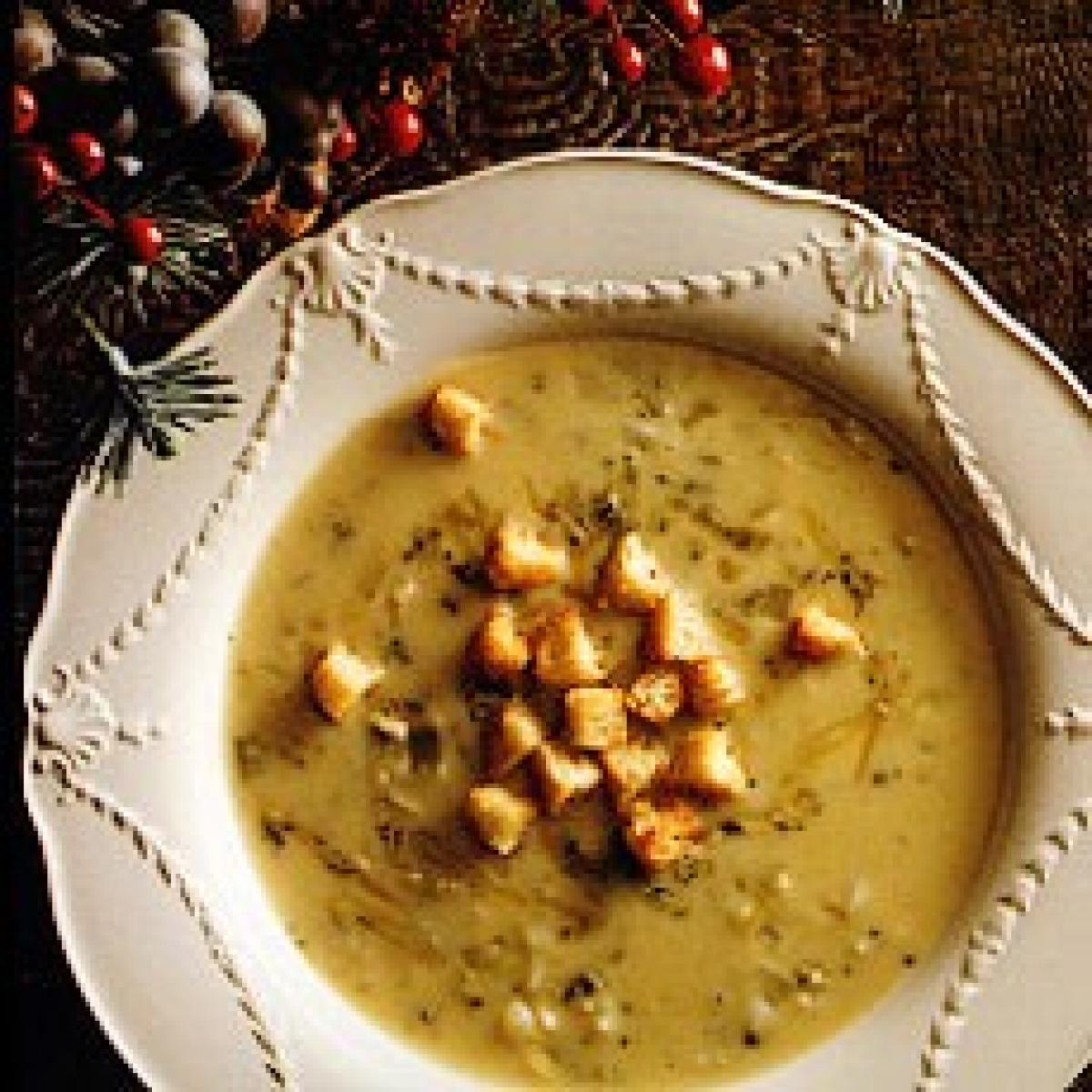 A picture of Delia's Stilton Soup with Parmesan Croutons recipe