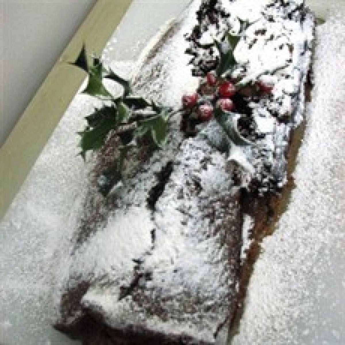 A picture of Delia's Prune and Armagnac Chocolate Log recipe