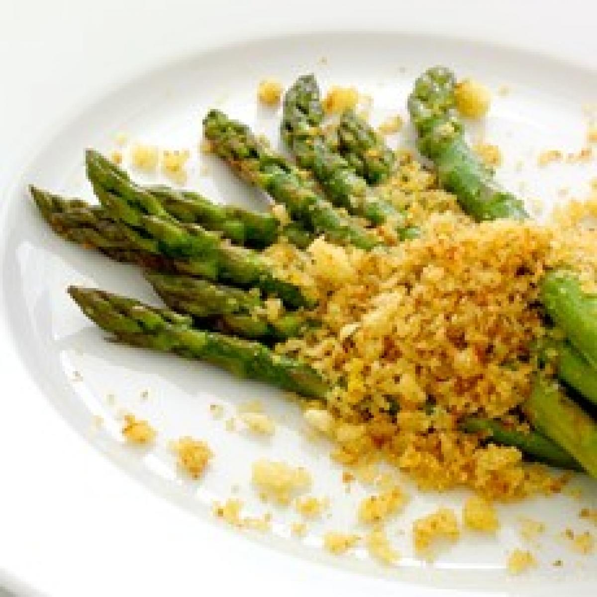 A picture of Delia's Asparagus with Lemon Butter Crumbs recipe