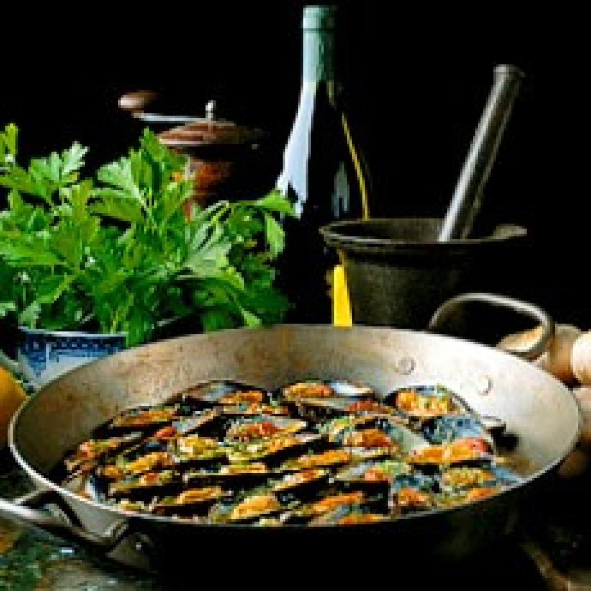 A picture of Delia's Gratin of Mussels in Garlic Butter recipe