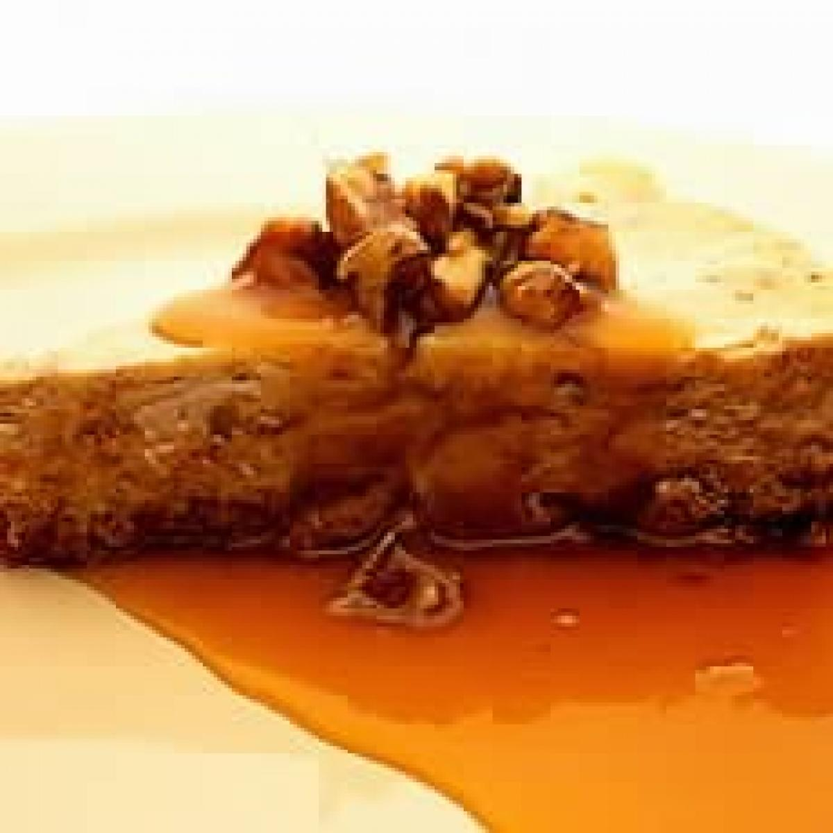 A picture of Delia's Maple and Walnut Cheesecake recipe