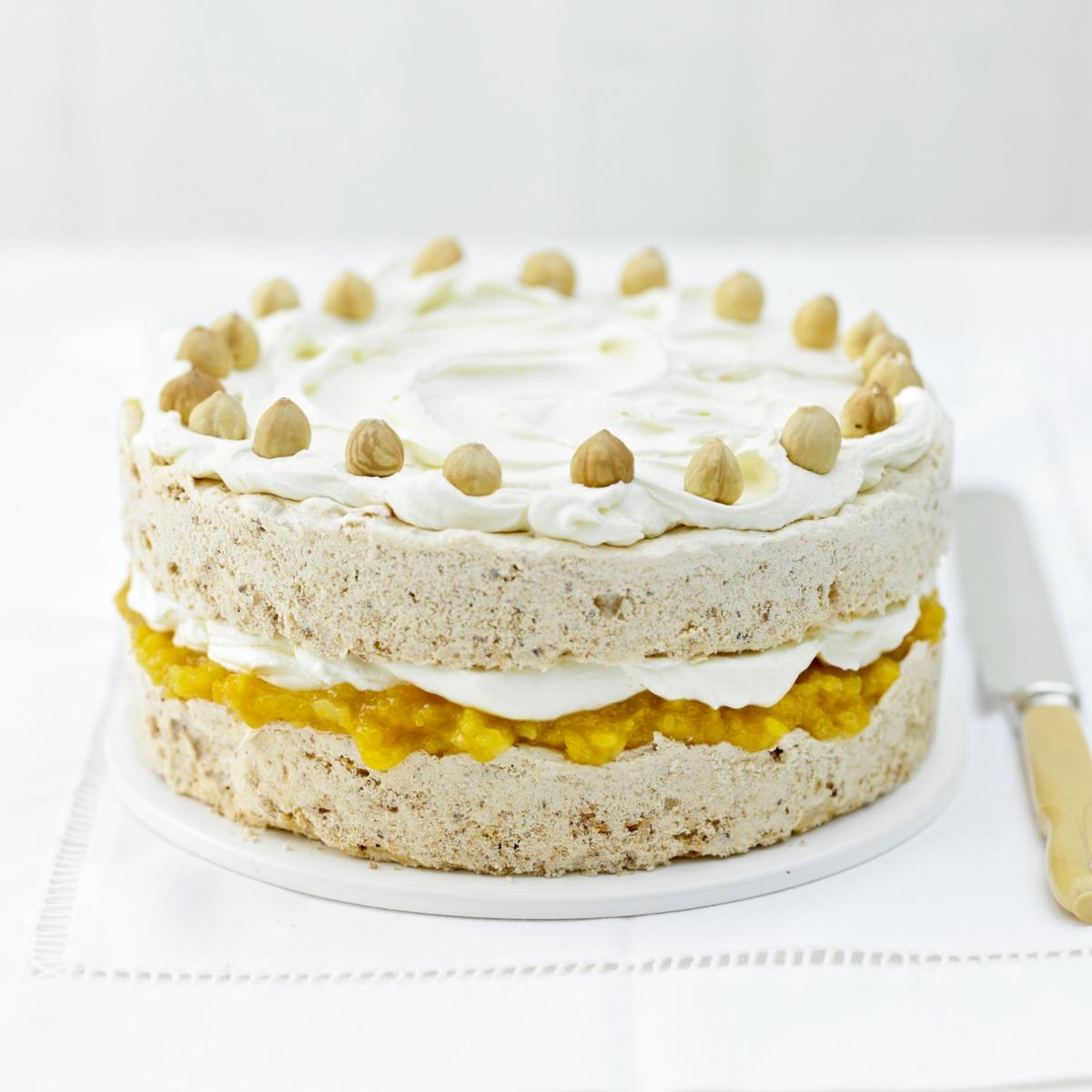 A picture of Delia's Apricot Hazelnut Meringue Cake recipe