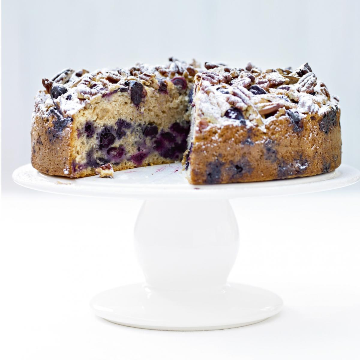 A picture of Delia's Blueberry and Pecan Muffin Cake recipe