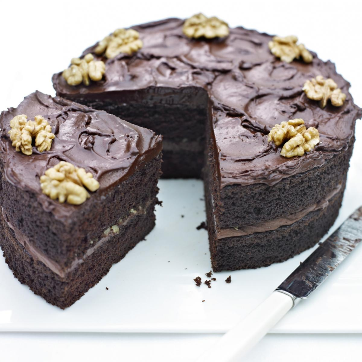 A picture of Delia's Chocolate Beer Cake recipe