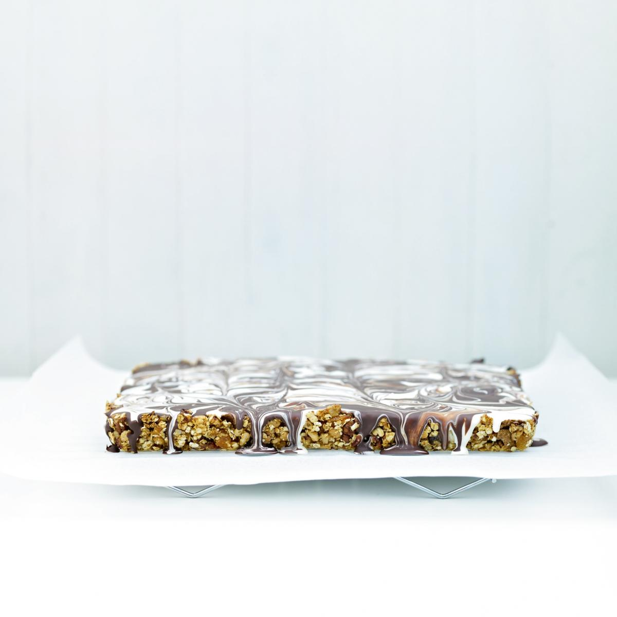 A picture of Delia's Chocolate Marbled Energy Bars recipe